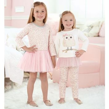 Mud Pie Spotted Owl Tunic and Legging Set
