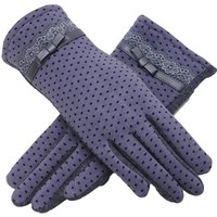 New Winter Sports Dot Decoration Gloves for Female Women's Fashion Good Qualitywarm Gloves Winter Gloves 9AA704-A