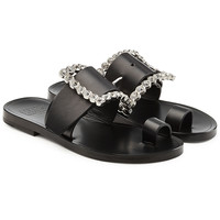 Embellished Leather Sandals - Maison Margiela | WOMEN | KR STYLEBOP.COM
