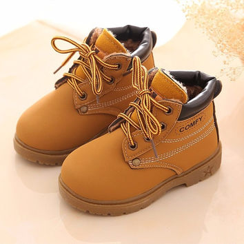 Boy/Girl Leather Snow Boots