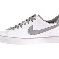 Nike Sweet Classic Leather Mens Urban Skate Shoes White/Medium Grey