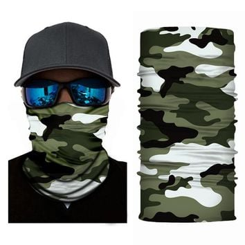 ADK Young Men Balaclava Camouflage Mask Sports Magic Neck Warmer Moto Mask Outdoor Micro Fiber Headband