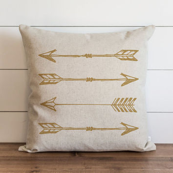 Gold Arrows 20 x 20 Pillow Cover