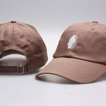 DCCKUNT The New Last Kings Visor Unisex Outdoor Couple's Cotton Baseball Cap - Brown