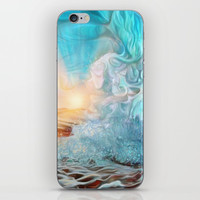 The evening wave iPhone Skin by exobiology