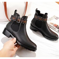 LV Louis Vuitton Autumn And Winter New Fashion Monogram Shoes High Quality Boots Women Black