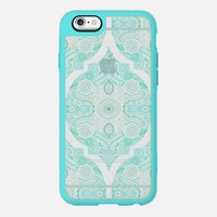 Mint Doodle Moroccan on Transparent iPhone 6 case by Micklyn Le Feuvre | Casetify