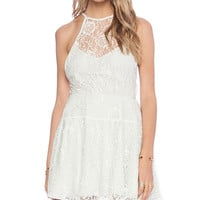 Free People Wish Upon A Star Dress in Cream