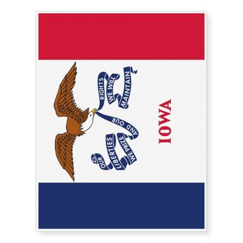 Patriotic temporary tattoos Flag of Iowa