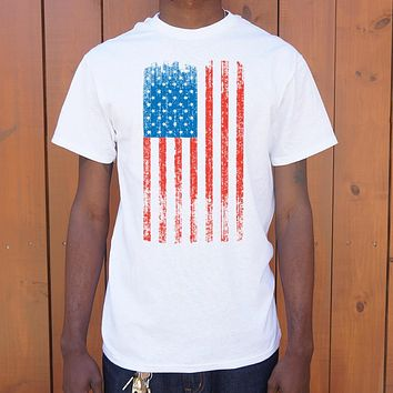 Distressed American Flag [USA] Men's T-Shirt