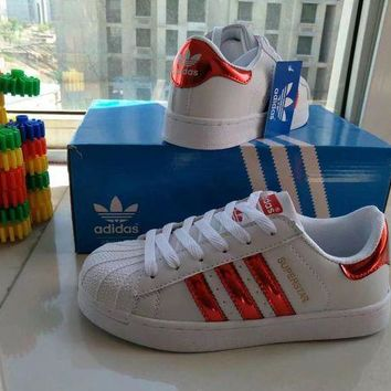 VONE05O Adidas Superstar' Fashion Casual Small White Shoes Women Shell Head Plate Shoes Sneak