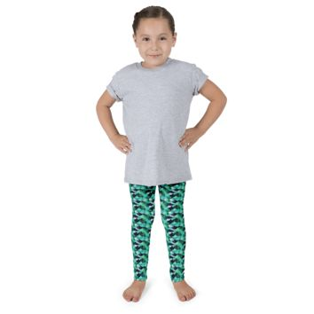 Kid's Mermaid Leggings Kelp