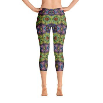 """Colliding Galaxies"" Standard Capri Yoga Pants"