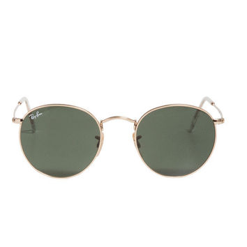 Ray-Ban Round Metal Sunglasses in Gold - as seen on Miley Cyrus | SINGER22.com