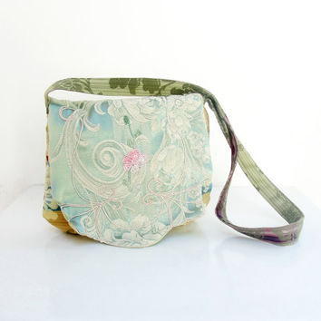 Silk Brokade Purse - Messenger bag with Embroidery