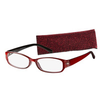 ICU Eyewear Women's Boston Red Crystal Readers