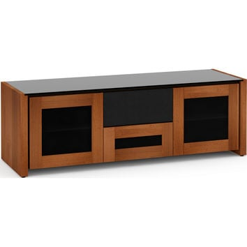 Corsica 65 Inch TV Stand Cabinet Center Speaker Opening American Cherry