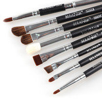 Women Professional Makeup 8pcs Brushes Set Powder Blend Make UP Eyeshadow Eyeliner Lip Cosmetic Tool Beauty
