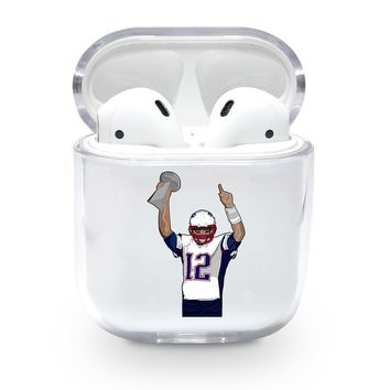 Super Bowl Tom Brady Airpods Case