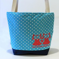 Large Tote, Owl Love on Luulla