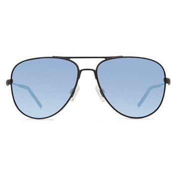 Revo - Windspeed Matte Black Sunglasses, Blue Water Serilium Lenses
