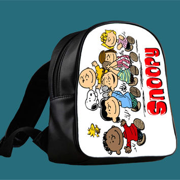 Snoopy And Charlie Brown for Backpack / Custom Bag / School Bag / Children Bag / Custom School Bag *