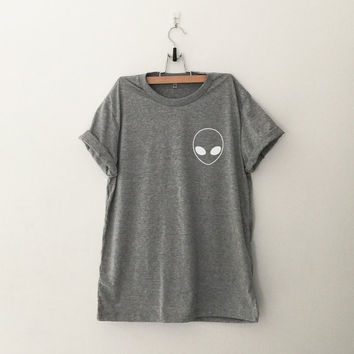Alien Pocket Tee TShirt womens girls teens unisex grunge tumblr instagram blogger pinterest punk hipster swag dope hype gifts merch
