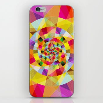 Colorful Abstract Swirly Tune Design (Fancy Fresh And Modern Hippy Style) iPhone & iPod Skin by Jeanette Rietz
