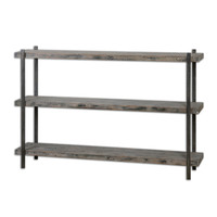 Driscoll Weathered Console Table / Small Wooden Bookcase