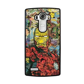 iron man comic collage lg g4 case cover  number 1