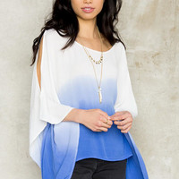 Savell Ombre Cold Shoulder Blouse