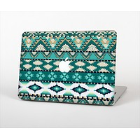 The Vector Teal & Green Aztec Pattern  Skin Set for the Apple MacBook Air 13""