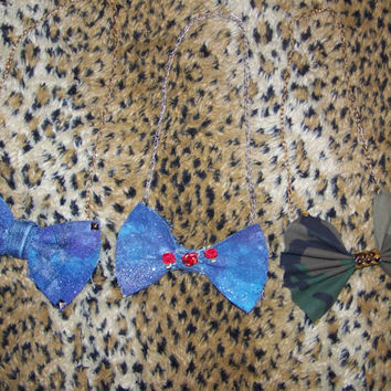 Custom BowTie NeckLace by UnanimousDecisions on Etsy