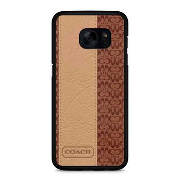 Coach New York Brown Leather Samsung Galaxy S7 Edge Case