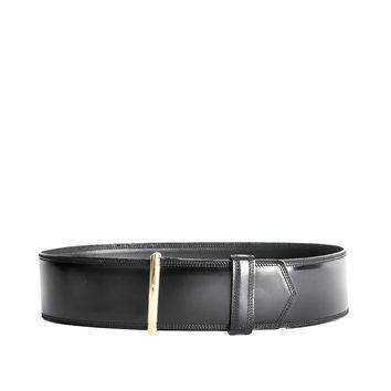 Gucci Vintage Wide Black Leather Belt