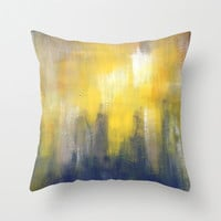 Grey and Yellow Pillow - Throw Pillow - Modern Home Decor