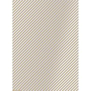 Silver Stripes Wrapping Paper
