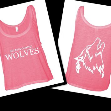 "Selena Gomez ""Wolves"" / Wolf Back Boxy, Cropped Tank Top"