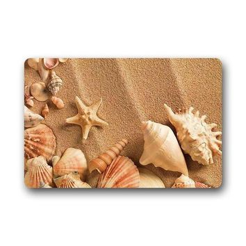 Hi,Doormat Design Fashions Unique Com table Style Door Mat Decor Gorgeous Sandy Beach Shell Starfish Doormat Floor Mat