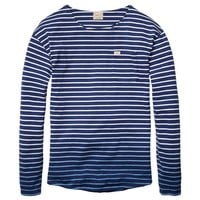 Multicoloured Striped Long-Sleeved Tee - Scotch & Soda