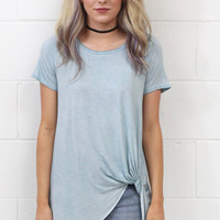 Mineral Washed Get Twisted Short Sleeve {Cool Blue}