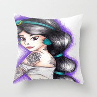 Jasmine Throw Pillow by Krista Rae | Society6