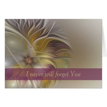 Floral Emotions, abstract Flower Fractal Art Card