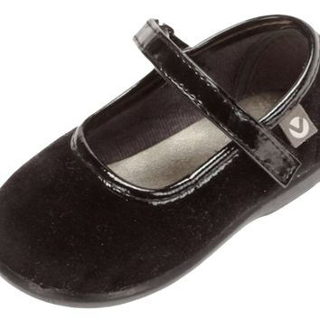 Victoria Alba Velvet Mary Jane Black for Girl's