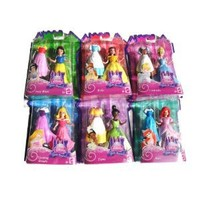 Disney Princess Favorite Moments Doll 6 Set- Cinderella, Snow White, Belle, Sleeping Beauty, Tiana and Ariel