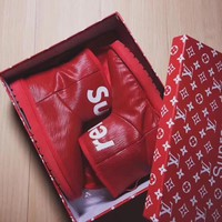 UGG x Louis Vuitton x Supreme Leather Snow Ankle Boots - High-end limited edition