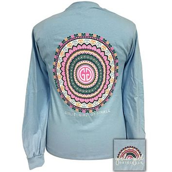 Girlie Girl Originals Preppy Mandala Long Sleeve T-Shirt