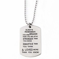 Military Dog Tag Necklace Serenity Prayer Stainless Steel Necklace Inspiration