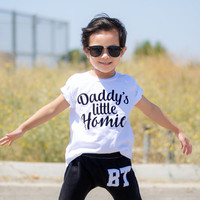 Daddy's Little Homie Tee Baby Shower Gift Bodysuit Baby Boy Clothes Baby Boy Shirt Baby Clothes Baby Gift Black and White