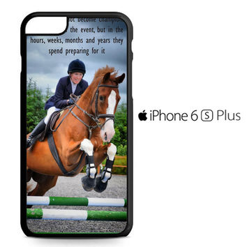 horse jumping photography Y2410 iPhone 6S Plus Case